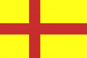 former flag of Orkey - Scandinavian and British at the same time
